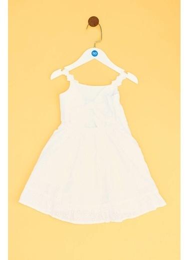 BG Baby Kız Bebek Beyaz Elbise 19SS1BG2913 Beyaz